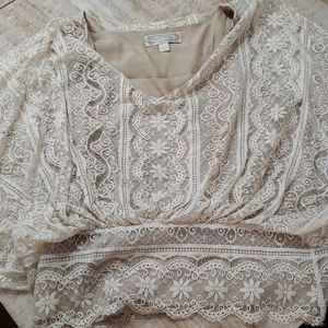 Beyond Vintage lace blouse with camisole